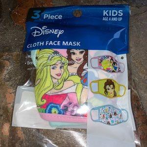 Disney Princesses Kids Face Masks set of 3
